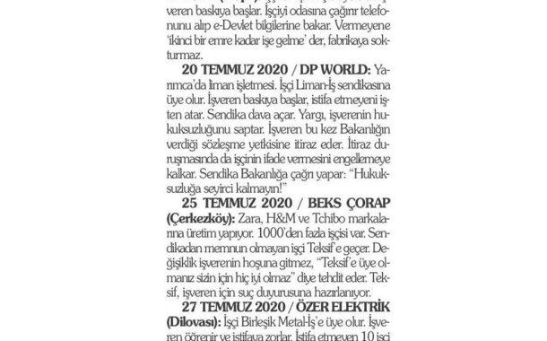 KÖŞE YAZILARI – AĞUSTOS 2020